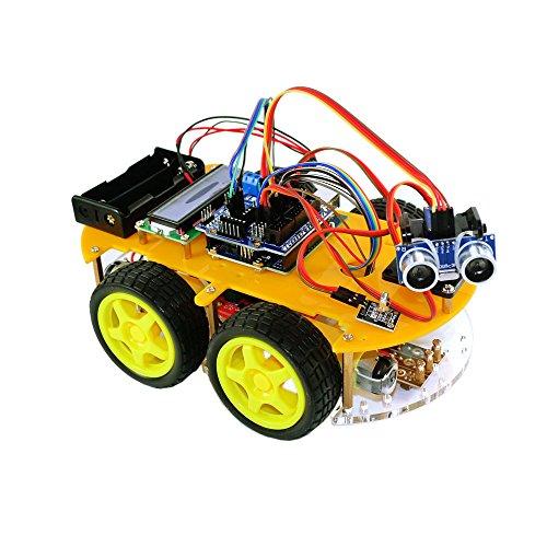 TBS2654 Kit complet Voiture Robot intelligente Arduino avec détecteurs d'obstacles & avec Bluetooth – Carte UNO atmega-328 – DYI - Guide d'utilisation avec projets de construction et photos