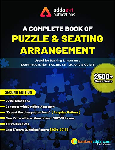 Adda247 A Complete Book for Puzzles & Seating Arrangement (English Printed Edition) [Paperback] Adda247 Publications and Anil [Paperback] Add247 Publications