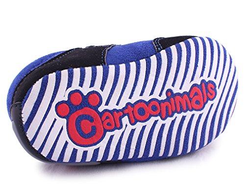 Cartoonimals Babyschuhe Mädchen Jungen Neugeborene Weiche Rutschsicheren Baby Kinder Schuhe Boots Raccoon Blue