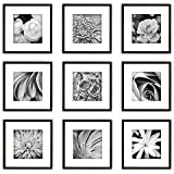 [Sponsored]Set Of Photo Frames 9 Piece Black Square Photo Frame Wall Gallery Kit - By Paper Plane Design