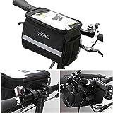 EMOTREE Fahrradlenkertasche Packtaschen Vorne Rahmen Rohr Lenker Fahrradkorb Tasche