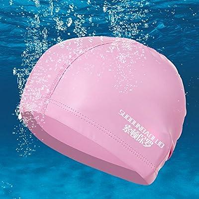Blueidea® Impermeable PU Tela Proteja Oídos Sombreros de Deportes para Mujeres Hombres Gorras de Nadada Cap Piscina Unisex (Rosado)