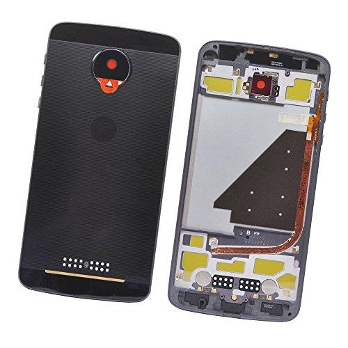 SOMEFUN Pieno Copri Batteria Back Cover Ricambio Batteria Vano Coperchio per Moto Z Droid XT1650-03/05 + Supporto Dual Sim Card + Obiettivo della fotocamera (nero)