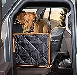 Hundeschutzdecke Rücksitz universal, Hunde Sitzauflage wasserdicht waschbar, Weiche rutschfeste Schutzdecke + Gurtöffnung, Hundeschondecke mit Seitenschutz,Hundedecke Auto,Autoschutzdecke,