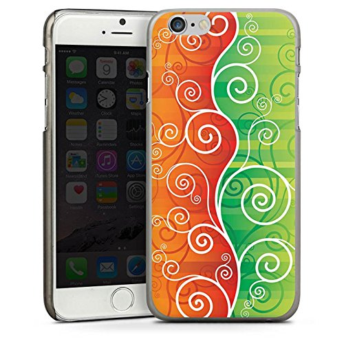 Apple iPhone 4 Housse Étui Silicone Coque Protection Floral Fioriture Vrilles CasDur anthracite clair