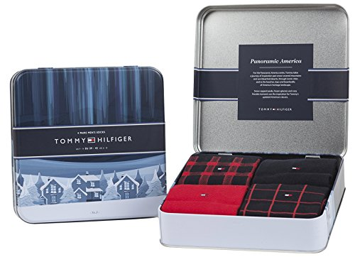 4 Paar Tommy Hilfiger Herren Socken Limited Edition CABIN BOX in edler Geschenkbox - tommy original - Gr. 39-42