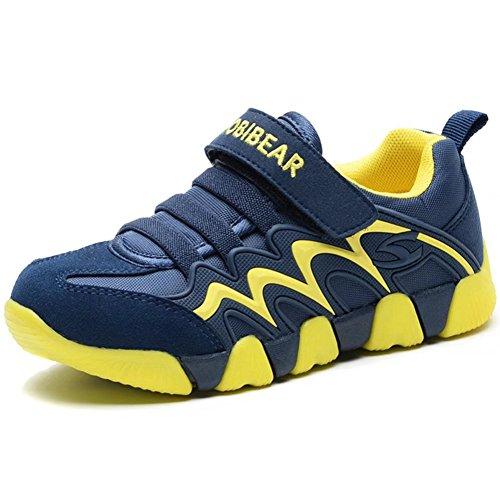 GUBARUN Kinder Turnschuhe Jungen Sportschuhe Mädchen Sneaker Hallenschuhe Outdoor Laufschuhe für Unisex-Kinder, Gr.- 33 EU/ 34 CN Blau