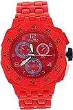ZAZA London PL342 red - Reloj, correa de plástico color rojo