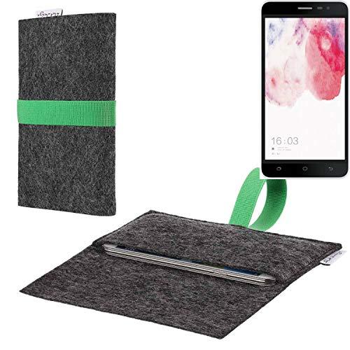 flat.design vegane Handy Hülle Aveiro für Hisense F20 Dual-SIM passgenaue Filz Tasche Case Sleeve Made in Germany