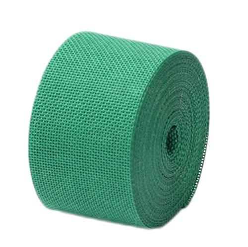 Monbedos Natürliches Juteband mit zum Basteln, für Hochzeit, Party, Heimdekoration, Leinen, Länge 10 m, Breite 5 cm grün