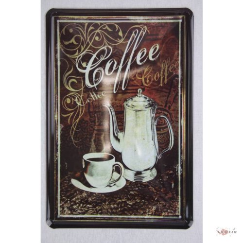 Blechschild Coffee Küchendeko 20 x 30 cm tin sign enseignes en metál Metallschild Retro Werbung Blechschilder