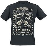 Johnny Cash American Rebel T-Shirt schwarz L