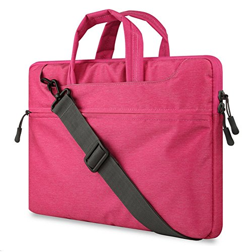 "GADIEMENSS Water-resistant Laptop Shoulder Briefcase Bag Portable Computer case handbag For Apple Macbook Air Pro 13.3"" Pink"
