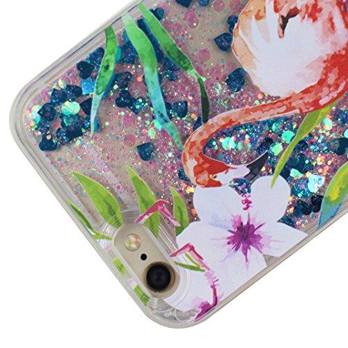 Housse iPhone 6S Liquide Sables Mouvants (4.7 pouce), iPhone 6 coque Protection, Moon mood® 3D Case Fashion Étui iPhone 6 Silicone Coque de Protection Transparent Crystal Clair Souple TPU doux côté +  Motif-5