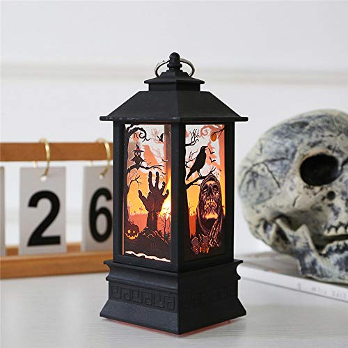 YEARYOWN Halloween nachtlicht led windlicht Halloween Dekoration Requisiten bar Szene Layout Desktop - Box Illusion Kostüm