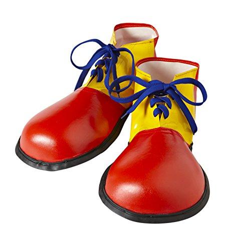 WIDMANN wdm9146p–Kostüm für Erwachsene Schuhe Clown Größe Erwachsene, Mehrfarbig, ()