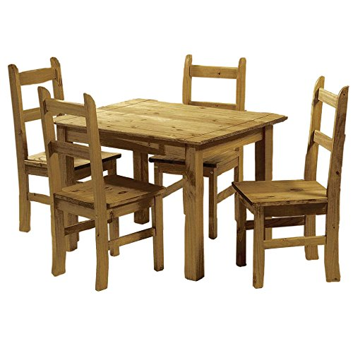 Country Dining Set (LPD Furniture Ecuador 4 Gartenmöbel-Set, in Kiefer)