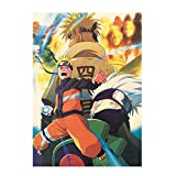 Bellenne Yovvin Naruto Shippuuden Poster Boruto Poster Wasserdicht Anti-Fade Wanddekoration Wandaufkleber Anime Wandtattoo Wandbilder für Tür Wohnzimmer Schlafzimmer (Style 03)
