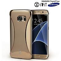 Galaxy S7 Edge Case, Samsung [SexyBack] Slim [Modulo di montaggio] copertura posteriore di [Extra largo Jack auricolari] Custodia per Samsung Galaxy S7 Edge [Precision Fit] - Oro