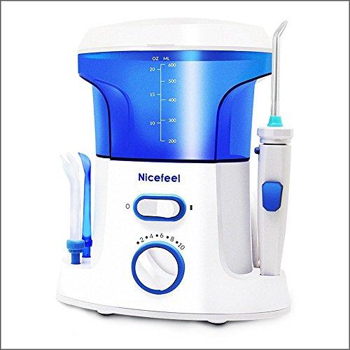Nicefeel Water Flosser Oral Irrigator Ultra High Powered Dental Wasser Jet Wasser Pick mit 7 Multifunktions-Tipps für Mund und Zahnpflege