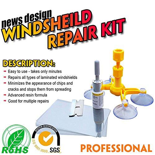 kingulee Windschutzscheiben Reparatur Set Windschutzscheiben Werkzeug Set - Professionelle Schnellverstellung DIY Auto Auto Kit Fenster Glas Kratzer Reparatur-Kits für Chip & Crack