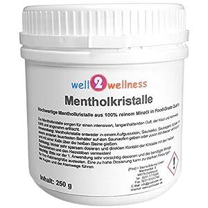 well2wellness® Mentholkristalle intensiv in einer 250g Dose – aus 100% reinem Minzöl gewonnen