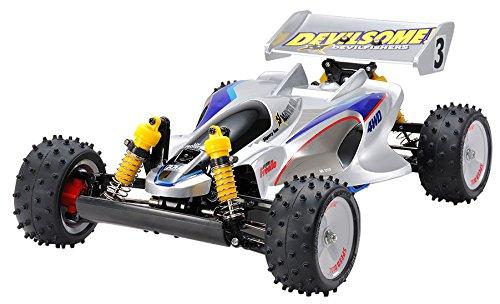 TAMIYA 47367Car Model 1: 10Modell-Spielzeug–Modelle von Spielzeug (Car Model, 1: 10, schwarz, blau, grau, Silber, Polycarbonat) (4wd Motor Tamiya)