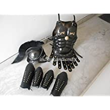 historicalmuseumstore Halloween Costume Collectible Muscle Armour Greek Armor With 300 Helmet Black by historicalmuseumstore