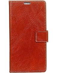 Xiaomi Mi 6 Case, CaseFirst Étui pour porte-cartes avec embouts pour cartes Porte-monnaie Support magnétique Flip Étui en cuir PU pour Xiaomi Mi 6 (rouge)