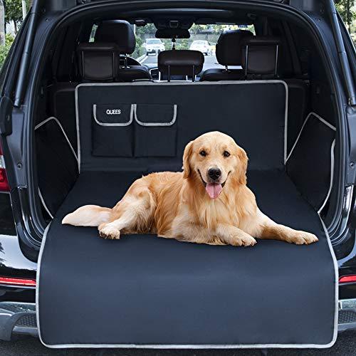 QUEES Kofferraumschutz Hund für SUV Kombi, Kofferraumdecke für Hunde mit Seitenschutz und Ladekantenschutz, universelle Passform