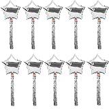 Sharplace Lot 10pcs Ballon Etoile Aluminium + Feuille Clinquant Rideau Frange Brillant Accessoire Décor Anniversaire Baptême