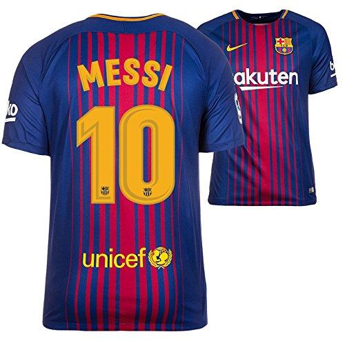 Trikot Kinder Nike FC Barcelona 2017-2018 Home - Messi 10 (164) (Barcelona Messi Lionel Trikot)