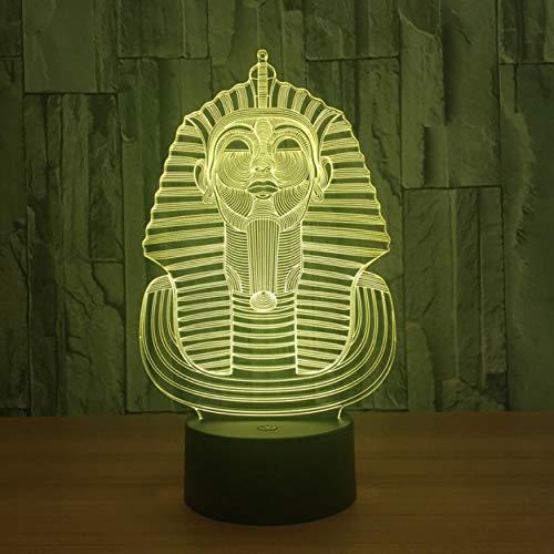 Die große Sphinx von Ägypten Modell 3D Lampe führte Acryl Nachtlicht mit 7 Farben Licht für Dekoration Lampe Kind Kid Weihnachtsgeschenk