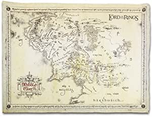 Posters: The Lord Of The Rings Poster Art Print - Parchment Map Of Middle Earth (26 x 18 inches)