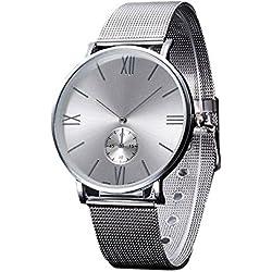 Sunnywill Neue Mode Kristall Edelstahl analoge Quarz-Armbanduhr für Frauen Mädchen Damen
