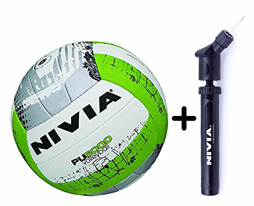 Nivia PU 5000 Volleyball Combo (Nivia PU 5000 Volleyball, Size 4 + Nivia Double Action Ball Pump)  available at amazon for Rs.920