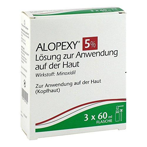 Alopexy 5% Lösung zur Anwendung auf der Haut 3X60 ml