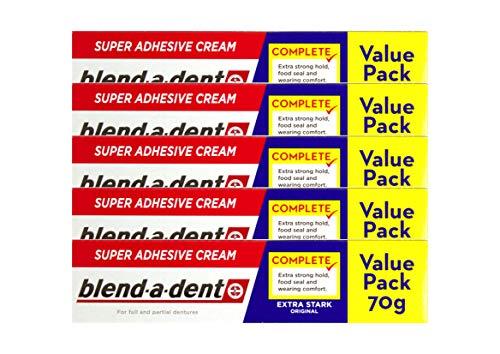 5x Blend-a-dent Super-Haftcreme extra stark Original 70g Vorteilspackung