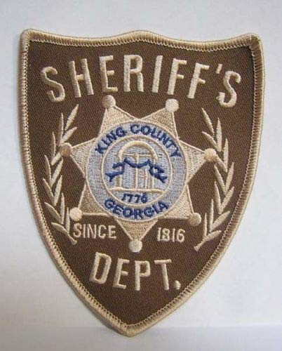 Patches The Walking Dead King County (Georgia Sheriff 'S Abteilung bestickt - County Sheriff Kostüm