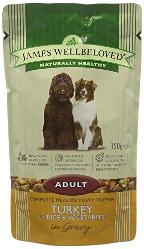 James Wellbeloved Complete Wet Adult Dog Food Lamb Rice and Vegetables, 10 x 150 g
