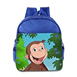 Fashionable Curious George School Bag College Bag For Girls, Boys, Kids, Students-RoyalBlue