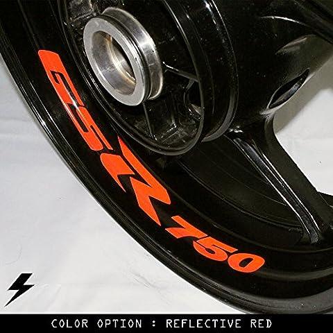 Suzuki GSR 750 moto cerchio interno adesivo in vinile RB
