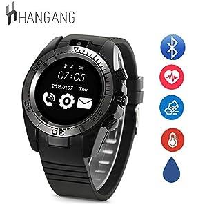 Hangang Herzfrequenz Monitor Tracker Smart Armband Activity Tracker Bluetooth Schrittzähler für iPhone 7 7 Plus 6 Samsung S8 und andere Android oder iOS Smartphones