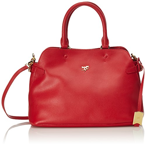 piero guidi Magic Circus Classic Leather Borsa a Mano, 33 cm, Rosso