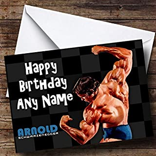 Personalised Arnold Schwarzenegger Birthday Card