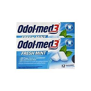 2x ODOL MED 3 Fresh Mint Kaugummi PZN 34157