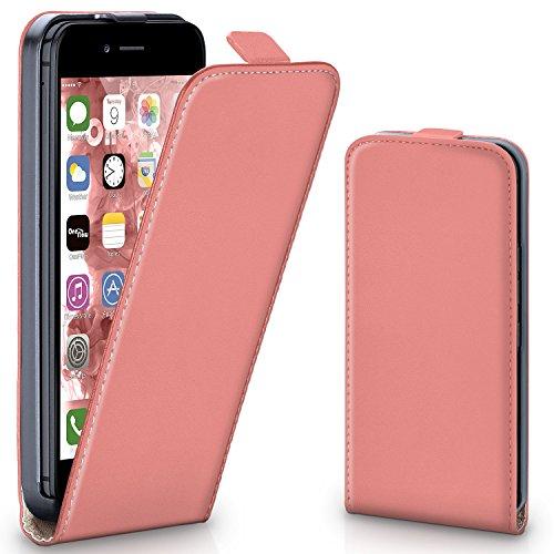 Pochette OneFlow pour iPhone 6 / 6S housse Cover magnétique | Flip Case étui housse téléphone portable à rabat | Pochette téléphone portable téléphone portable protection bumper housse de protection a CORAL-ROSE