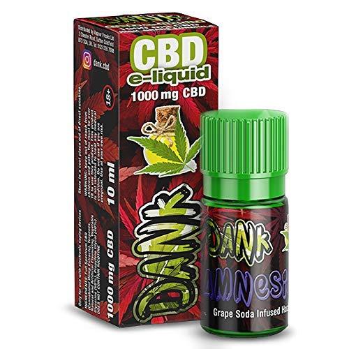 Vollspektrum CBD E-Liquid Amnesia 10ml, 600mg CBD | 60VG / 40 PG | Enthält Cannabidiol kann gegen Schmerzen, Entzündung & Stress helfen - Vape Liquid ohne Nikotin