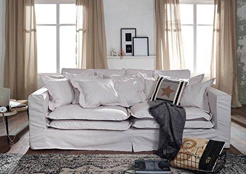 Sofa XXXL Hussensofa NORA Bezug weiß BIG Sofa weiß - 4