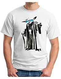 OM3 - YODA GURU COOL - T-Shirt JEDI SciFi DARTH VADER YOGA Vidya MUSIC, S - 5XL, blanc